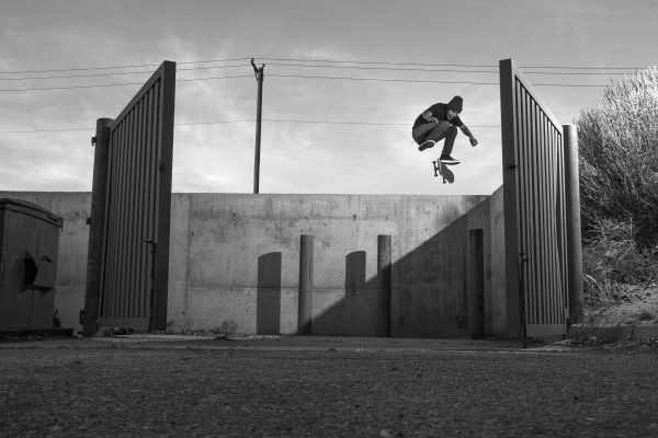 Bryant Chapo_kickflip ditch gap to flat_Albuquerque NM_photo RYAN MADDOX